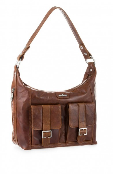 Lennods Leather Shoulder Handbag Cognag