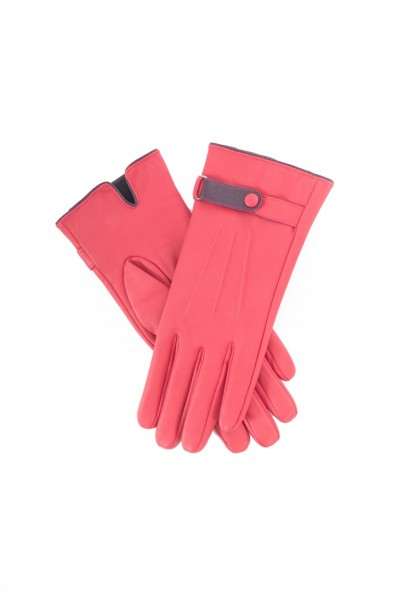 Powder Brooklyn Leather Gloves Berry