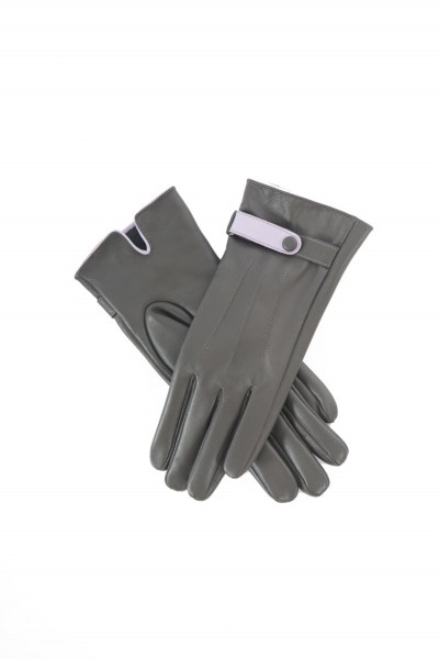 Powder Brooklyn Leather Gloves Charcoal