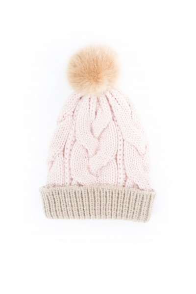 Powder Charlotte Cable Knit Pom Pom Hat