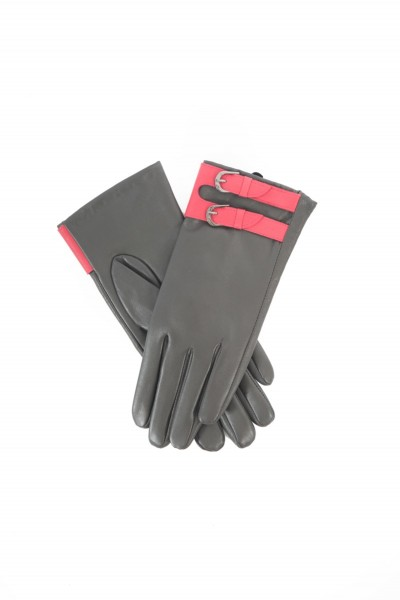 Powder Dixy Leather Gloves Charcoal