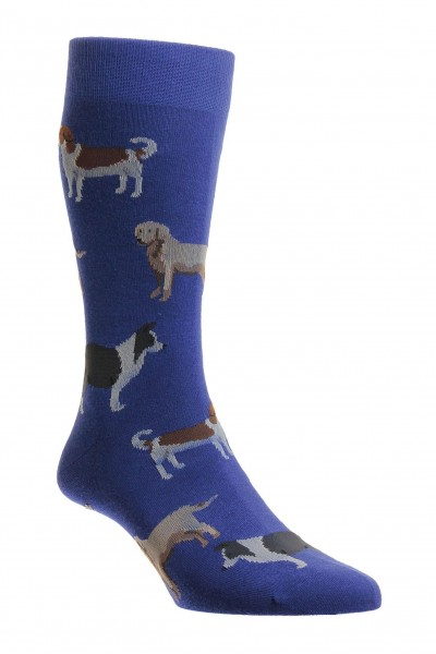 Pantherella Mens Pedar Dog Socks Royal