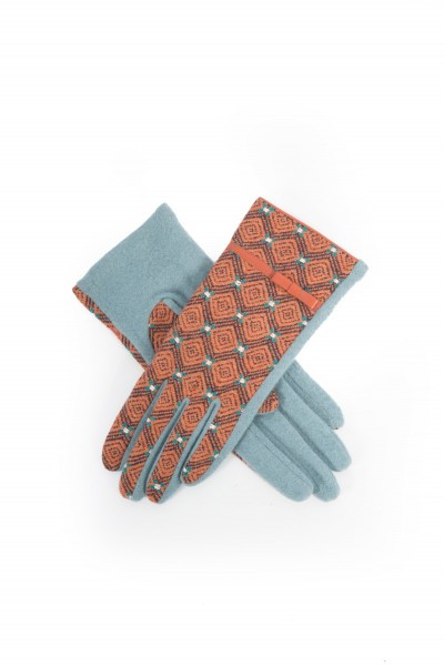 Powder Wilma Wool Gloves Ice