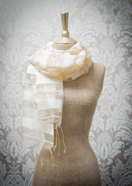 Powder Lillian Ivory Striped Scarf
