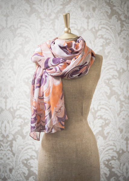 Ladies marble print scarf by Powder.