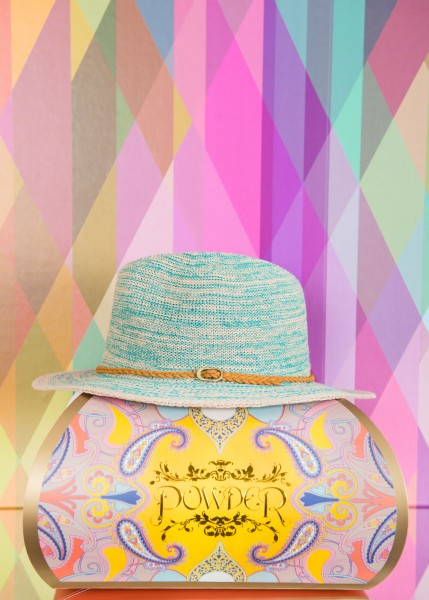 Powder Adjustable Sun Hat Blue