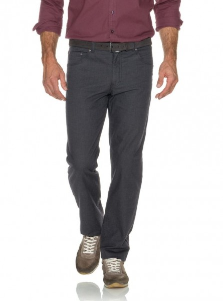 Brax Cooper Wool Look Trousers Grey