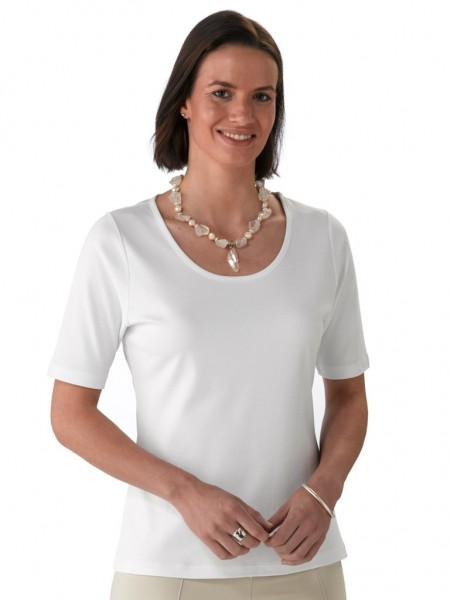 59bff7206429 Artisan Route Pilar Pima Cotton T-Shirt White in Artisan Route Range