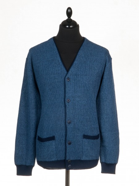 The Alpaca Collection Cardigan Repton Blue