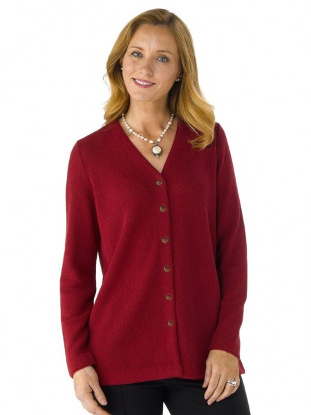 Artisan Route Tania Cardigan Ruby Red