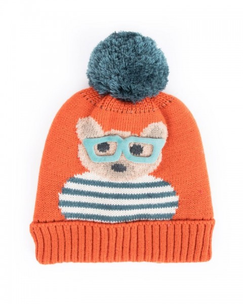 Powder Kids Teddy Hat Tangerine