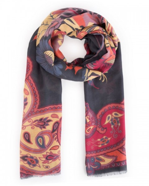 Powder Russian Floral Scarf
