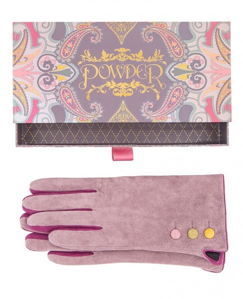 Powder Babette Suede Gloves Stone