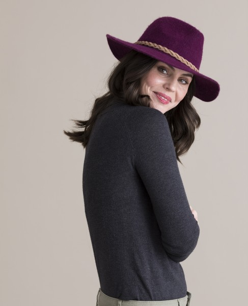 Powder Katie Wool Fedora Hat Magenta