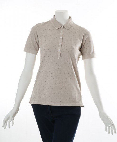 Brax Cleo Spotty Polo T-Shirt Brown