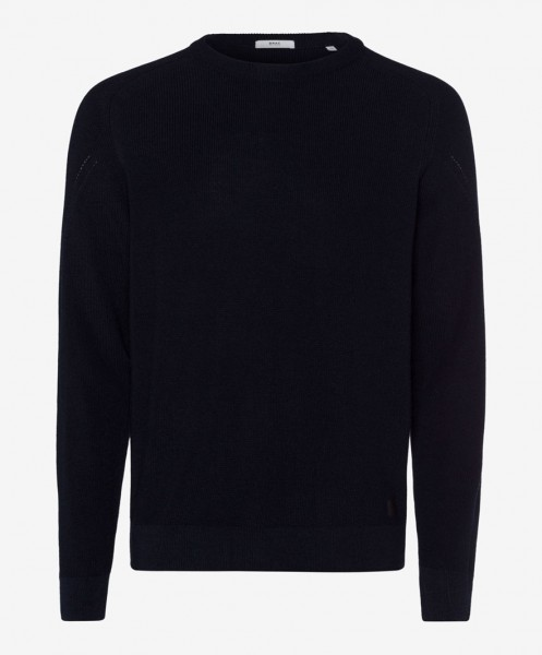 Brax Roy Crew Neck Jumper Navy