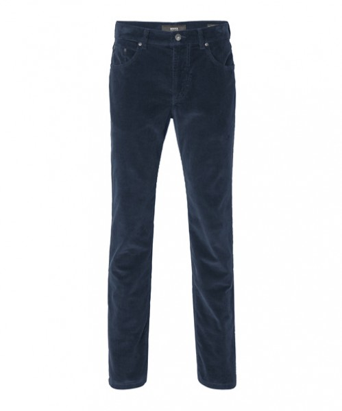 Brax Corduroy Trousers Cooper Kingston Navy