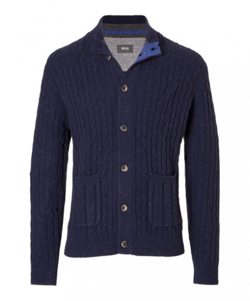 Brax Cardigan Jeff Navy