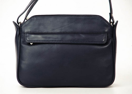Nova Leather Handbag Navy - 0554