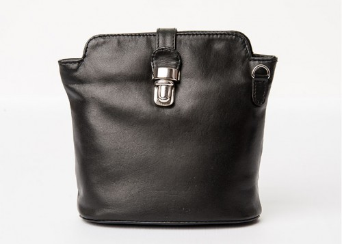 Nova Leather Bucket Handbag Black Style - 0558