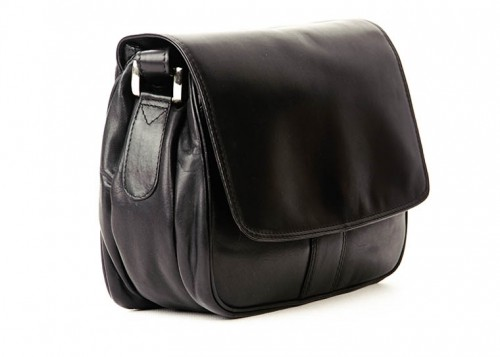 Nova 0720 Leather Shoulder Handbag Black