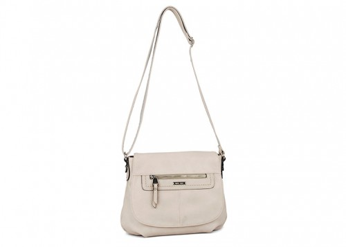 David Jones  Chunky Zip Cross Body Bag Sand
