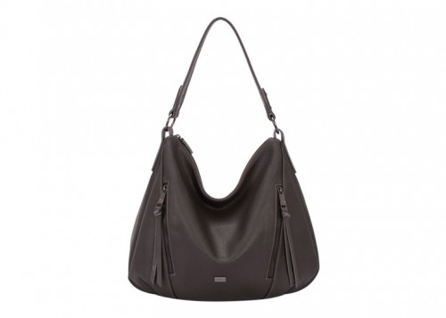 David Jones Large Slouch Handbag Black