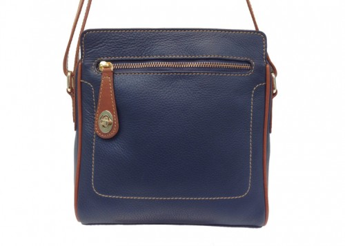 Nova Leather Cross-Body Handbag Navy Style- 7076