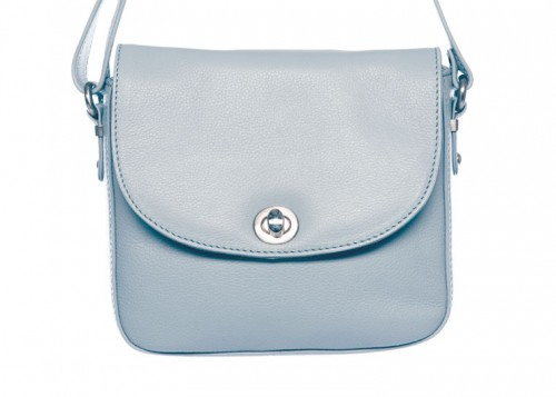 Nova Leather Cross Body Handbag Light Blue 805