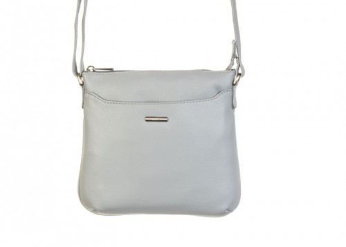 Nova 807 Leather Cross Body Handbag Light Blue