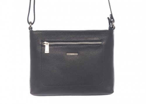 Nova 812 Leather Cross Body Bag Black