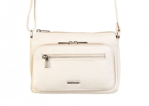Nova 818 Leather Cross Body Handbag Ivory