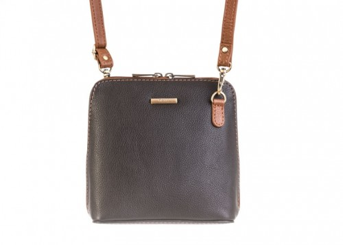 eb3e69fe2b29 Nova 820 Leather Small Cross Body Handbag Black   Chestnut in Nova Leather  Handbags Range
