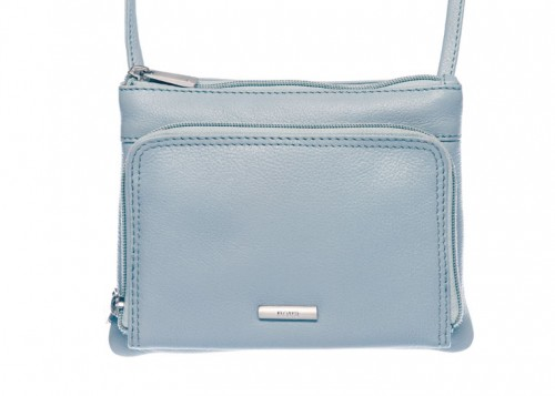 Nova 821 Leather Cross Body Handbag Light Blue