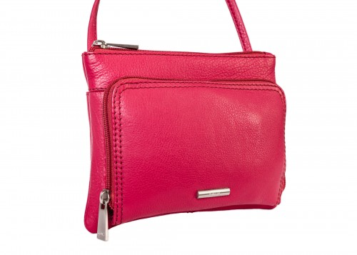 Nova 821 Leather Cross Body Handbag Pink Poppy