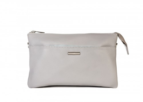 Nova 827L Compact Leather Handbag Light Grey
