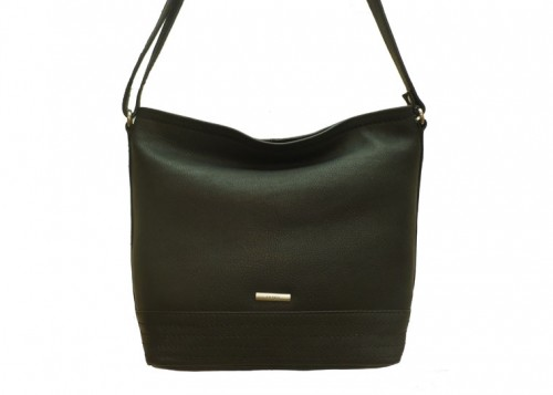 Nova 831 Leather Messenger Handbag Black