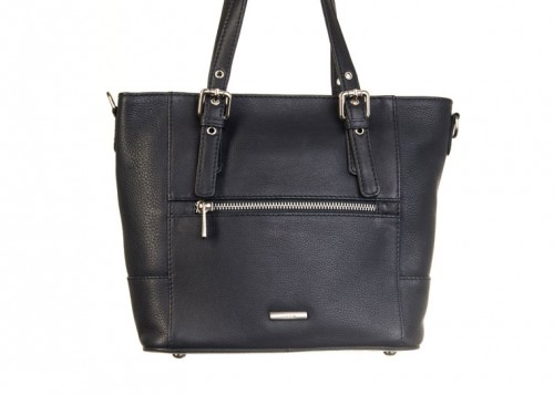 Nova 837 Leather Small Tote Handbag Black