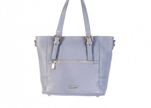 Nova 837 Leather Small Tote Handbag Blue Jean