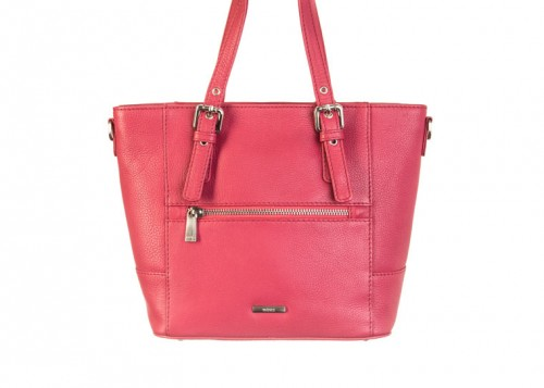 Nova 837 Leather Small Tote Handbag Poppy