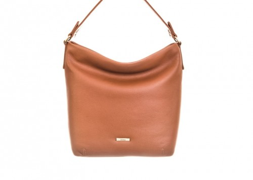 Nova 876 Leather Shoulder Handbag Cognac