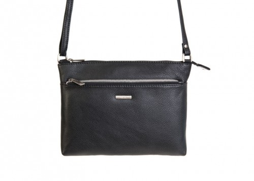 Nova 879 Leather Cross Body Handbag Black