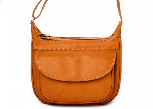 Nova Leather Shoulder Handbag Tan Style - 916