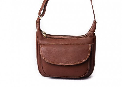Nova Leather Shoulder Handbag Tan 916S