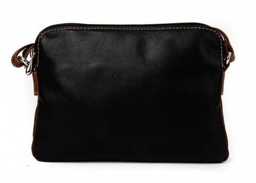 Nova Leather Cross-Body Handbag Black/Tan