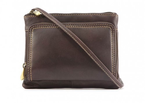 Nova 936 Leather Cross Body Handbag Brown