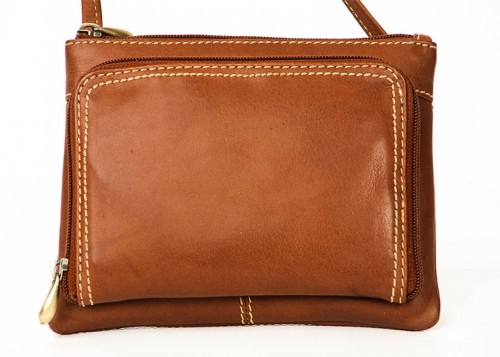 Nova Leather Cross Body Handbag Tan Style-936