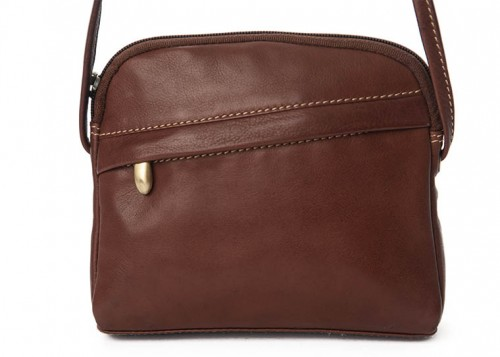 Nova Leather Cross Body Handbag Brown Style - 953