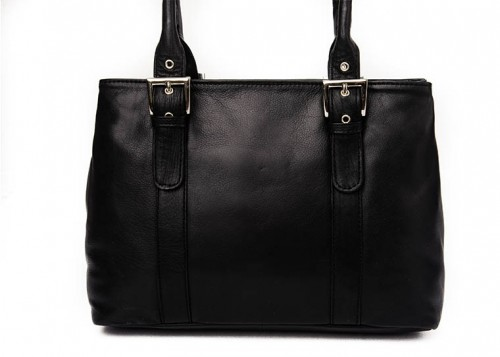 Nova Leather Shoulder Handbag Black Style - 961