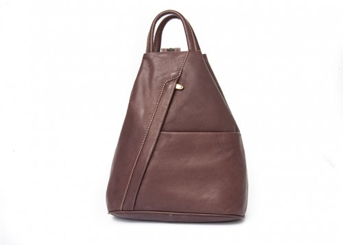 Nova Leather Backpack Brown Style - 982
